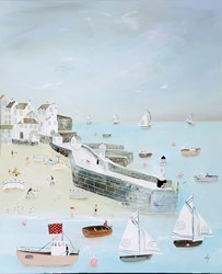 Making a Splash by Lucy Young -  sized 24x29 inches. Available from Whitewall Galleries